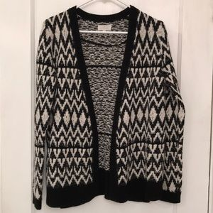 Lou & Grey Black and White Print Sweater M
